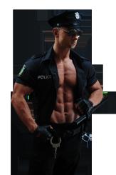 policjant striptizer na wieczór panieński